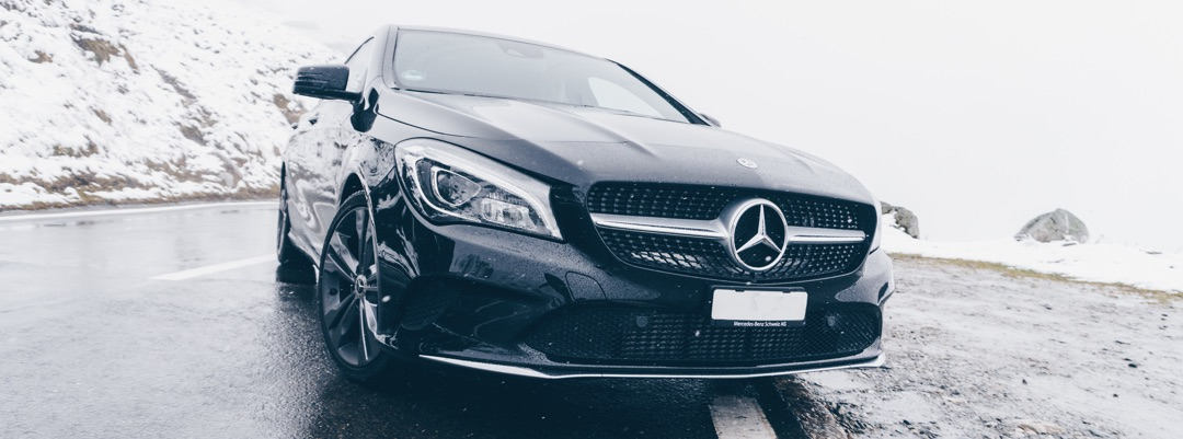 Mercedes in Winter